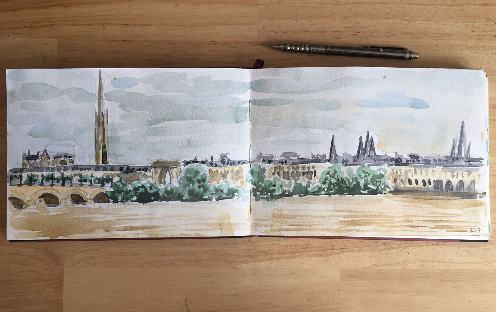 aquarelle Bordeaux