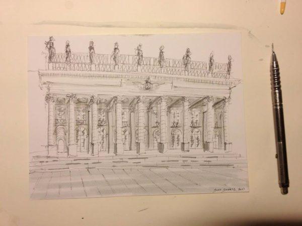 dessin quinconces Bordeaux